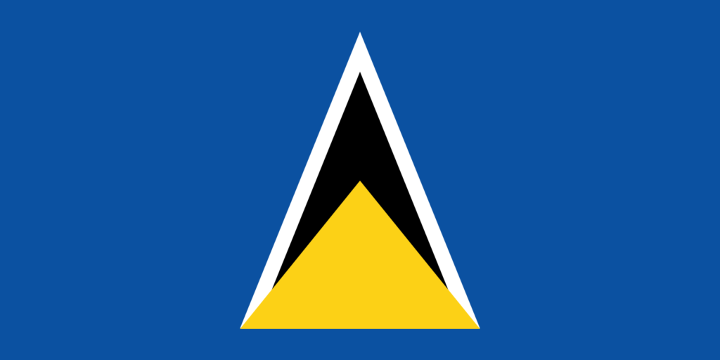 Saint Lucia Country Flag