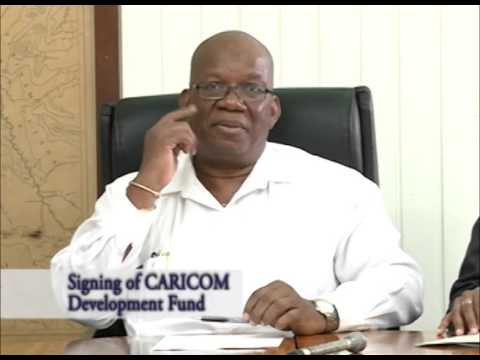 Signing of CARICOM Development Fund - Novemeber 13, 2015