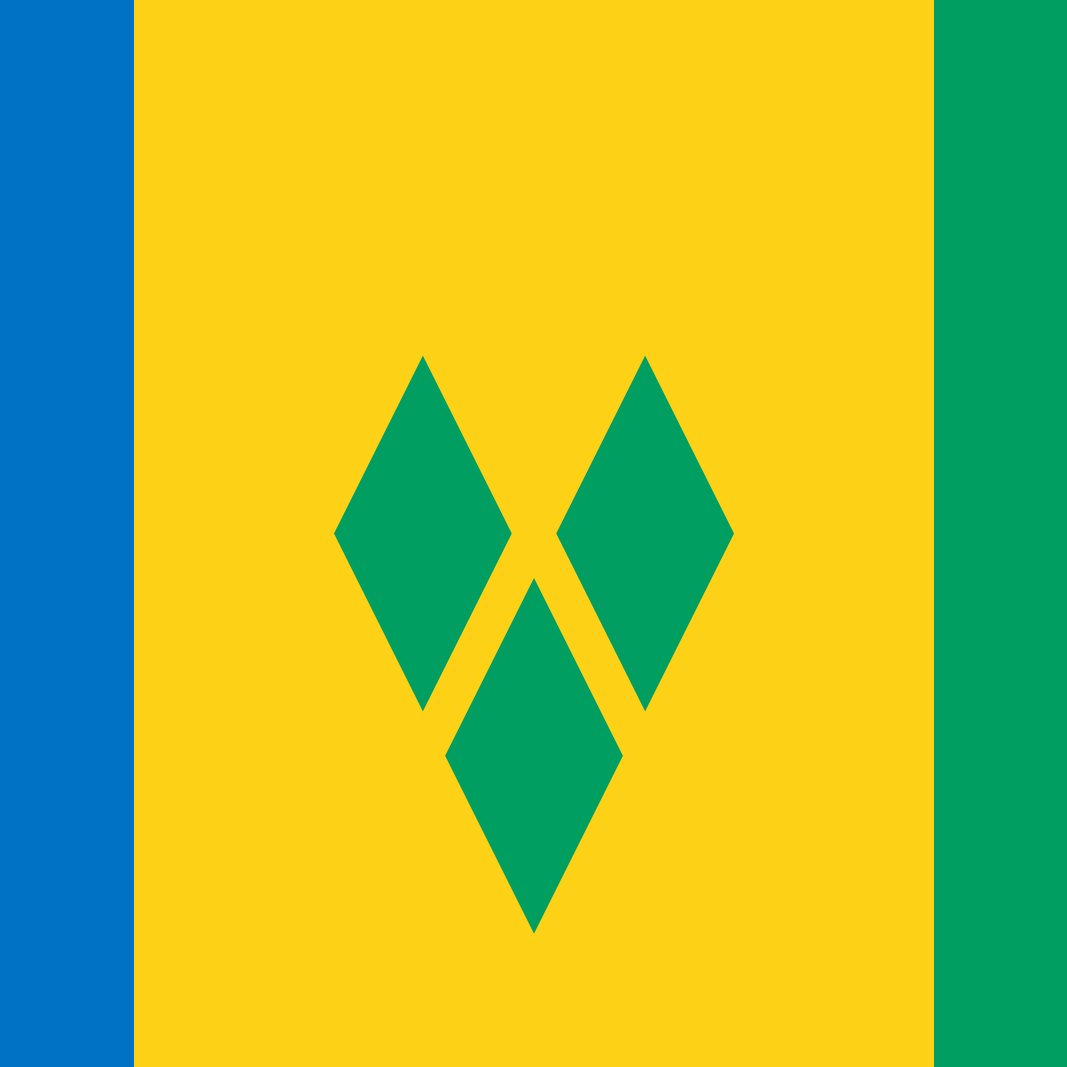 St. Vincent & The Grenadines Country Flag